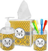 Damask & Moroccan Print Bathroom Accessories Set