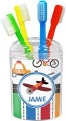 Transportation & Stripes Toothbrush Holder