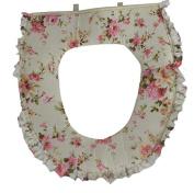 U Shape Flowers Pattern Toilet Seat Cushion Warm Toilet Seat Cover