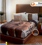 Oso Fuzzy Fleece Blanket and Sheet Set, Curtains and Accessories