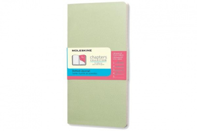 Moleskine Chapters Journal, Slim Pocket, Dotted, Mist Green, Soft Cover (3 X 5.5)
