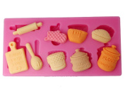 Generic Silicone Mould Kitchen Utensils Cupcake Top Mould Colour Pink
