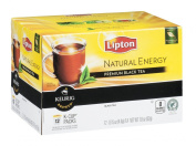 Lipton Natural Energy Premium Black Tea 12 K-Cups for Keurig - Package of 2