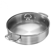 Chantal SLIN29-280 21-Steel Induction Sauteuse with Glass Lid, 4.7l