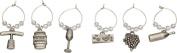 BAR Craft SET of 6 Elegant Decorative Wine Charms