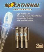 Nockturnal Lighted Arrow Nock H Model 3/Pkg Blue
