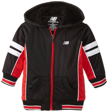New Balance Little Boys' Colour Block Tricot Sherpa Lined Hoodie