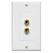 Single Channel Speaker Wall Plate
