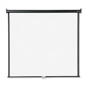 Quartet Wall or Ceiling Projection Screen, 60 x 60, White Matte, Black Matte Casing