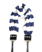 Capturing Couture Scarf Camera Strap for DSLR Camera, 80cm Band, Navy/White Stripe
