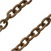 Vintaj Natural Brass Chain 4mm X 5mm Petite Etched Cable Chain - Bulk By The Foot