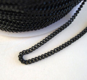 BeadsTreasure Black Coloured Chain Twist Curbe -3m