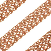 SilverSilk 8-Needle Flat 4.8mm Knit Wire Mesh - Copper Plated - By The Foot