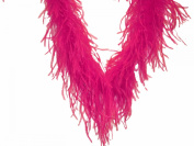 Touch of Nature 1-Piece Feather Ostrich/Marabou Boa for Arts and Crafts, 2-Yard, Hot Pink