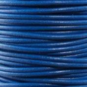 """#06 Blue Round Leather Cord 1mm (1/32"""") x 10 m"""