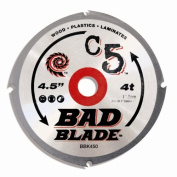 KwikTool USA BBK450 C5 Bad Blade 4-1/2-Inch 4 Tooth With 1-Inch Arbour And 7/8-Inch, 5/8-Inch, 20mm Reduction Rings