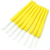 Estone 8Pcs Ergonomic Plastic Handles Crochet Hooks Knitting Knit Needles Set 2.5-6mm 4 Colours