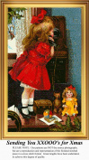 Sending You XXOOO's for Christmas, Vintage Counted Cross Stitch Pattern