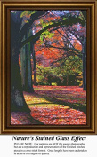Nature's Stained Glass Effect, Landscapes Counted Cross Stitch Pattern