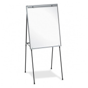 Lorell Dry-Erase Board Display Easel with Rubber Feet, 100cm to 180cm , Black