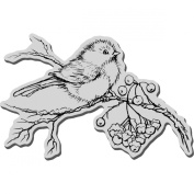 Stampendous Christmas Cling Rubber Stamp, Snow Bird
