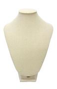 Medium Cream Linen Table Top Bust Mannequin Jewellery Display Retail Store