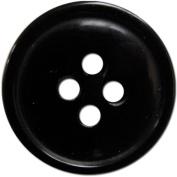 Slimline Buttons Series 1-Black 4-Hole 1.6cm 4/Card