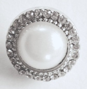 Ginger Snaps White Miss. Pearl Interchangeable Jewellery Snap Accessory