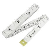 1.5M 150cm Soft Plastic Ruler Tailor Cloth Body Measure Measuring Flat Tape WHITE