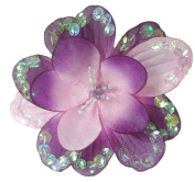 Cuteque International 3-Piece Sequin Flower Craft Beaded Trim, 9.5cm , Pale Purple
