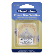 Beadalon French Wire 0.7mm Gold Plated, 1-Metre