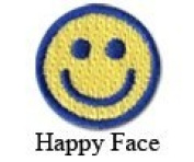 Iron on Happy Face Patch 10-Pack