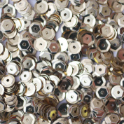 5mm CUP SEQUINS Silver Loose sequins for embroidery, applique, arts, crafts, and embellishment.