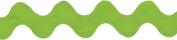 Wrights Polyester Rick Rack Ribbon, 3.8cm , Apple Green