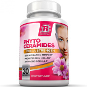 Top Rated Phytoceramides. An All Natural Anti Ageing Healthy Skin Supplement Derived From Wheat, 30ct 350mg Gel Caps By BRI Nutrition