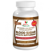 #1 Blood Sugar Support Supplement - Advanced Blood Sugar Support Formula - Formulated with All Natural Alpha Lipoic Acid, Chromium, Gymnema, Bitter Melon and Other Ingredients to Maintain Healthy Blood Glucose Level Naturally - 45 Days Supply