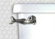 Mermaid Toilet Flush Handle - Front Mount - Satin Pewter
