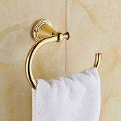Rozinsanitary Gold Finish Wall Mounted Towel Hook Bath Towel Ring Rack