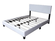 Home Life Leather Platform Bed with Slats Full - Complete Bed 5 Year Warranty Included