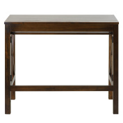 Casual Home Montego Folding Desk with Pull-Out Tray, Warm Brown