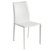 Nuevo Sienna Dining Chair, White, Metal