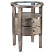 Stein World Furniture Lucan Accent Table, Pewter Metallic