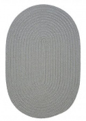 Boca Raton Polypropylene Braided Round Rug, 1.8m, Shadow