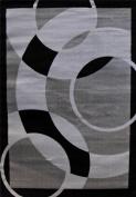 1052 Grey Beige Ivory Black 1.5m0.6m x 2.1m2 Area Rug Abstract Carpet