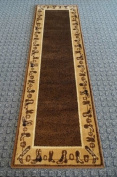 Cabin Style Area Rug Runner 0.6m X 2.1m Design # L-375