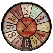 Jumbo Tuscan Wooden Number Wall Clock