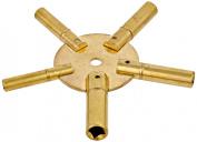Paylak UNIKEY-1O Odd Sizes 5 Prong Universal Clock Key for Winding Clocks