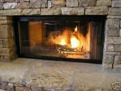 90cm Fireplace Glass Door Set To Fit Heatilator Unit