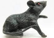 Motion Sensing Black Rat w/ Red Eyes Scary Halloween Sensor Prank