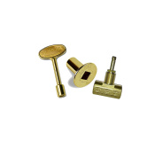 Dante Products Combo Pack with Straight 1.3cm Globe Valve, Polished Brass Floor Plate and 7.6cm Key